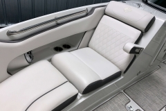 Fold-Down Bow Armrests of the 2021 Crownline 270 XSS Bowrider Boat