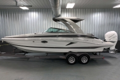 Powered Arch with Suntop of the 2021 Crownline 270 XSS Bowrider Boat