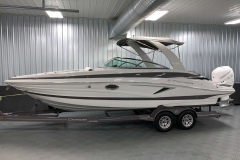 Slate Exterior Color on the 2021 Crownline 270 XSS Bowrider Boat