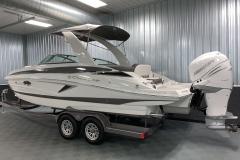 Fusion White Mercury Verado on the 2021 Crownline 270 XSS Bowrider Boat