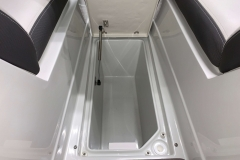 Subfloor Bow Storage of the 2021 Crownline 270 XSS Bowrider Boat
