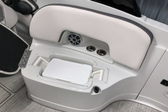 Subfloor Cooler Storage of the 2021 Crownline 280 SS Bowrider Boat