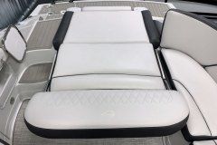Aft Electric Sun Lounge of the 2021 Crownline 280 SS Bowrider Boat