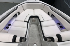Spacious Bow Layout of the 2021 Crownline 280 SS Bowrider Boat