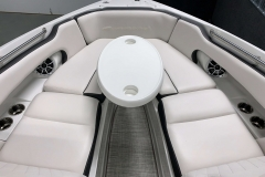 Portable Bow Snack Table of the 2021 Crownline 280 SS Bowrider Boat