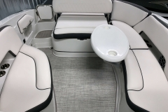 Portable Rear Snack Table of the 2021 Crownline 280 SS Bowrider Boat