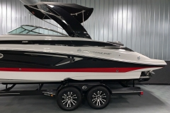 Powered Arch with Suntop of the 2021 Crownline 280 SS Bowrider Boat