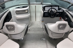 Retracting Wind Dam of the 2021 Crownline 280 SS Bowrider Boat