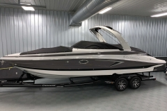 Bow and Cockpit Covers of the 2021 Crownline 290 SS Bowrider Boat