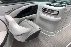 Co-Captains Chair and Head of the 2021 Crownline 290 SS Bowrider Boat
