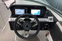 "Twin Garmin 7"" Touchscreen Displays of the 2021 Crownline 290 SS Bowrider Boat"