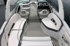 Snap-In Woven Vinyl Flooring of the Slate and Onyx Exterior Colors on the 2021 Crownline 290 SS Bowrider Boat