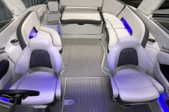 Interior LED Lighting of the 2021 Crownline 290 SS Bowrider Boat