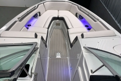 Spacious Bow Layout of the 2021 Crownline 290 SS Bowrider Boat