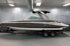 Powered Arch with Suntop of the 2021 Crownline 290 SS Bowrider Boat