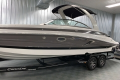 Custom Tandem Axle Trailer of the 2021 Crownline 290 SS Bowrider Boat