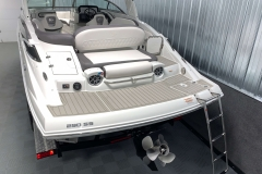 Rear Boarding Ladder of the 2021 Crownline 290 SS Bowrider Boat