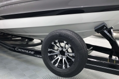 Spare Tire and Carrier on the 2021 Crownline 290 SS Bowrider Boat