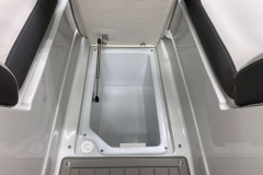 Subfloor Bow Storage of the 2021 Crownline 290 SS Bowrider Boat