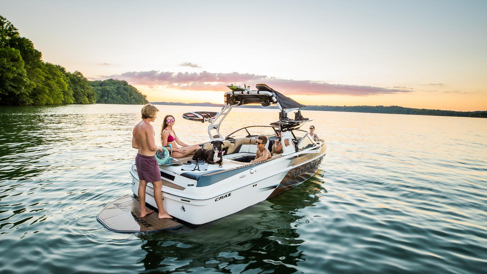 Lake Lifestyle on the 2022 Moomba Craz Wake Boat