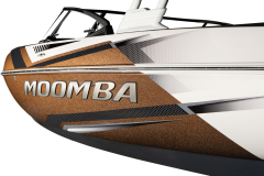 Moomba Premium Logo on the 2022 Moomba Craz Wake Boat