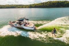 Wake Surfing the 2022 Moomba Craz Wake Boat