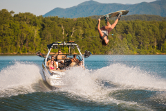 Wakeboarding the 2022 Moomba Craz Wake Boat