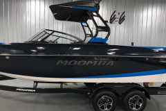 Pacific Blue Appearance Package on the 2021 Moomba Craz Wake Boat