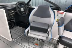 Helm Seat Bolster of the 2021 Moomba Craz Wake Boat