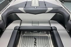 Interior Rear Layout of the 2021 Moomba Craz Wake Boat