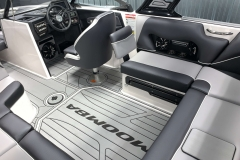 Starboard Side Interior Seating of the 2021 Moomba Craz Wake Boat