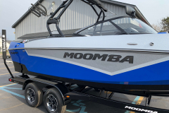 Silver Metal Flake on the 2021 Moomba Kaiyen Wake Boat