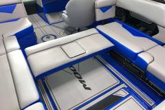 Convertible Rear Sliding Seat of the 2021 Moomba Kaiyen Wake Boat