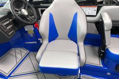 Captain's Helm Seat of the 2021 Moomba Kaiyen Wake Boat