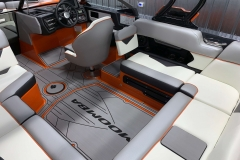 Interior Seating (Starboard) of the Drivers Side Seat Back Kit of the 2021 Moomba Kaiyen Wake Boat
