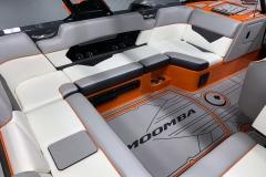 Interior Seating (Port) of the 2021 Moomba Kaiyen Wake Boat