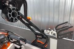 Wet Sounds Stereo and Swivel Board Racks on the 2021 Moomba Kaiyen Wake Boat