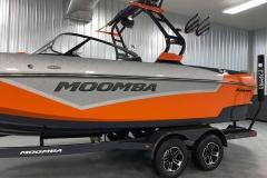 Middie Premium Logo on the 2021 Moomba Kaiyen Wake Boat