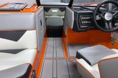 Bow Walkthrough Wind Screen on the 2021 Moomba Kaiyen Wake Boat