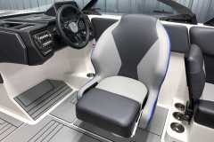 Redesigned Helm Chair of the 2021 Moomba Max Wake Boat