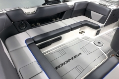 Port Side Interior Seating of the 2021 Moomba Max Wake Boat