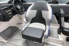 Adjustable Captain's Chair of the 2021 Moomba Mondo Wake Boat