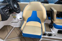 Adjustable Captain's Seat on the 2021 Moomba Mondo Wake Boat