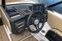 Helm of the 2021 Moomba Mondo Wake Boat