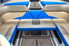 Pacific Blue Seat Boxing on the 2021 Moomba Mondo Wake Boat