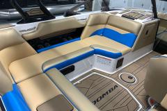 Honey Interior Color on the 2021 Moomba Mondo Wake Boat