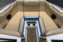 Walk-Thru Bow Seating of the 2021 Moomba Mondo Wake Boat