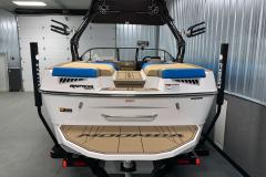 Fiberglass Swim Platform of the 2021 Moomba Mondo Wake Boat