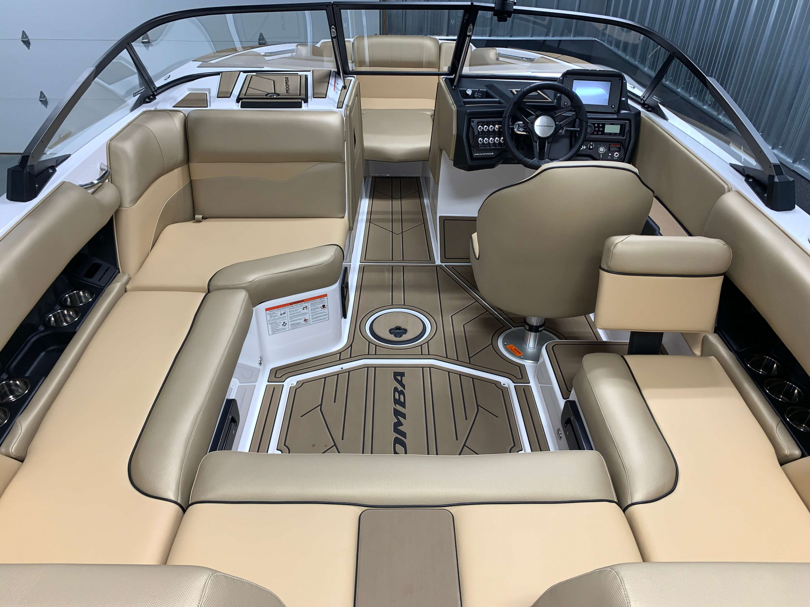 Interior Layout of the 2021 Moomba Mondo Wake Boat