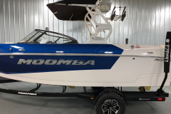 White A3 Premium Tower of the 2021 Moomba Mondo Wake Boat